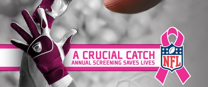 abfa44fbcaf NFL SUPPORTS NATIONAL BREAST CANCER AWARENESS MONTH WITH A CRUCIAL CATCH  CAMPAIGN