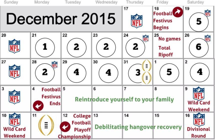 Football Festivus Calendar