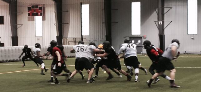 Cleveland Gladiators hit the practice field for thier first day in pads of the 2016 camp.